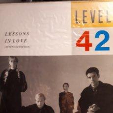 Discos de vinilo: LEVEL 42 -LESIONS IN LOVE (EXTENDED VERSIÓN). Lote 143311054
