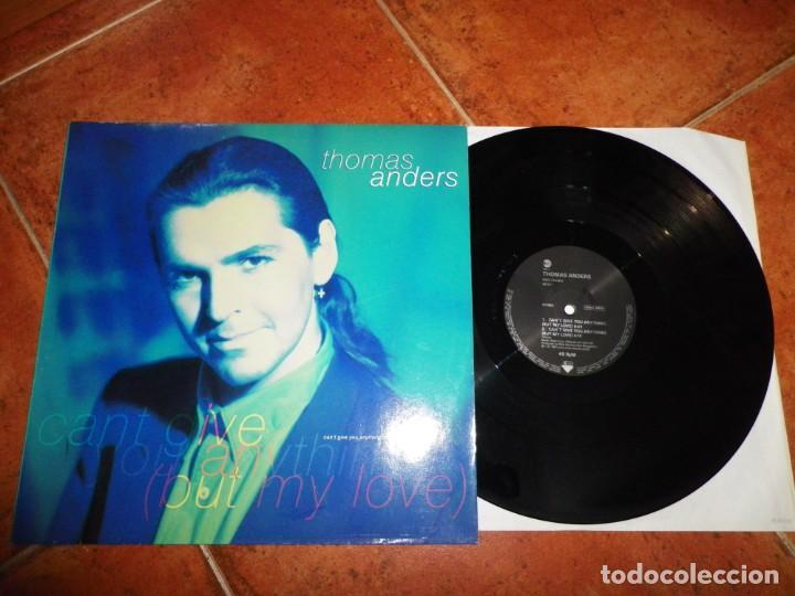 THOMAS ANDERS CAN´T GIVE YOU ANYTHING MAXI SINGLE VINILO 1991 ALEMANIA MODERN TALKING CANTA ESPAÑOL (Música - Discos de Vinilo - Maxi Singles - Pop - Rock Internacional de los 90 a la actualidad)
