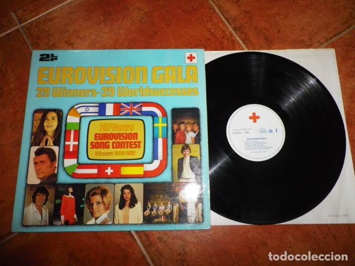 EUROVISION GALA 25 AÑOS DE EUROVISION GANADORES 1956-1981 1 LP VINILO 1981 ESPAÑA GATEFOLD 14 TEMAS (Música - Discos - LP Vinilo - Festival de Eurovisión)