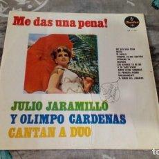 Discos de vinilo: JULIO JARAMILLO Y OLIMPO CARDENAS - CANTAN A DUO - 1ª EDICIÓN - SONOLUX LP 12-134 - MÉXICO. Lote 143336002