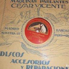 Discos de vinilo: DISCO DE PIZARRA GRAMOFONO OPERAS LA FAVORITA/MANON.30 CM.. Lote 172076250