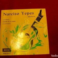 Discos de vinilo: NARCISO YEPES -- LEYENDA / RUMORES DE LA CALETA / ALBORADA, DECCA, 1960.. Lote 143339710