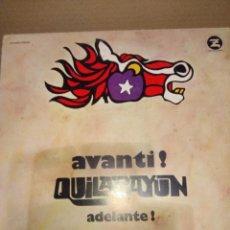 Discos de vinilo: LP QUILAPAYUN : AVANTI ! ( ADELANTE !) EDICION ITALIA . Lote 143341022