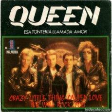 Discos de vinilo: QUEEN - ESA TONTERIA LLAMADA AMOR (CRAZY LITTLE THING CALLED LOVE) - SG SPAIN 1979 - EMI. Lote 143349058