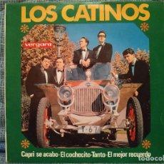 Discos de vinilo: LOS CATINOS - CAPRI SE ACABO / EL COCHECITO + 3 - EP ESPAÑOL SELLO VERGARA AÑO 1965 EXCELENTE ESTADO. Lote 143352702
