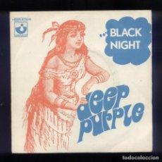 Discos de vinilo: DEEP PURPLE BLACK NIGHT FRANCIA 1970 SINGLE 45RPM. Lote 143373202