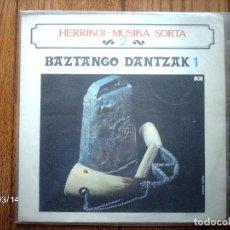 Discos de vinilo: HERRIKOI MUSIKA SORTA - 2 - BAZTANGO DANTZAK 1 - MAURIZIO ELIZALDE . Lote 143375994