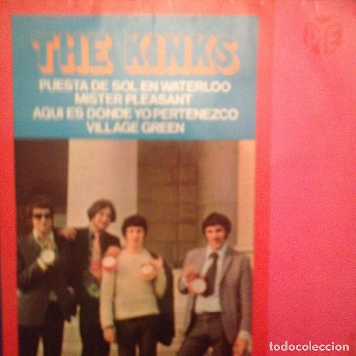 THE KINKS: PUESTA DE SOL EN WATERLOO, MISTER PLEASANT + 2 (Música - Discos de Vinilo - EPs - Pop - Rock Extranjero de los 50 y 60)