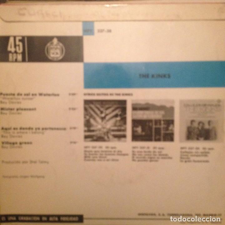 Discos de vinilo: THE KINKS: Puesta de sol en Waterloo, Mister pleasant + 2 - Foto 2 - 143381234