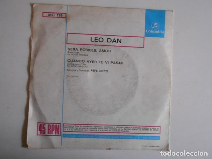 Discos de vinilo: LEO DAN-SINGLE SERA POSIBLE AMOR - Foto 2 - 143381674
