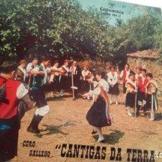 Discos de vinilo: E P (VINILO) DE CORO CANTIGAS DA TERRA AÑOS 60. Lote 143392510