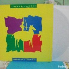 Discos de vinilo: LP CIUDAD JARDÍN. PRIMERO ASÍ, Y LUEGO MÁS. FONOMUSIC, 1990. NUEVO¡ PEPETO. Lote 143393602