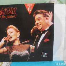 Discos de vinilo: PLACIDO DOMINGO / PALOMA SAN BASILIO – PLACIDO PALOMA POR FIN JUNTOS! EN VIVO - DOBLE LP 1991 PEPETO. Lote 143396402