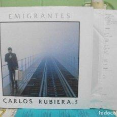Discos de vinilo: CARLOS RUBIERA - EMIGRANTES - LP - AÑO 1989 CON ENCARTE ASTURIAS NUEVO¡¡ PEPETO. Lote 143401858