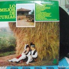 Discos de vinilo: LO MEJOR DE ASTURIAS LP MUSICA REGIONAL HISPAVOX AÑO 1965 PEPETO. Lote 143402646