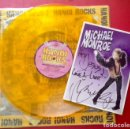 Discos de vinilo: HANOI ROCKS VINILO BANGKOK SHOCKS SAIGON SHAKES + FOTO AMBOS FIRMADOS POR MICHAEL MONROE. Lote 143404790