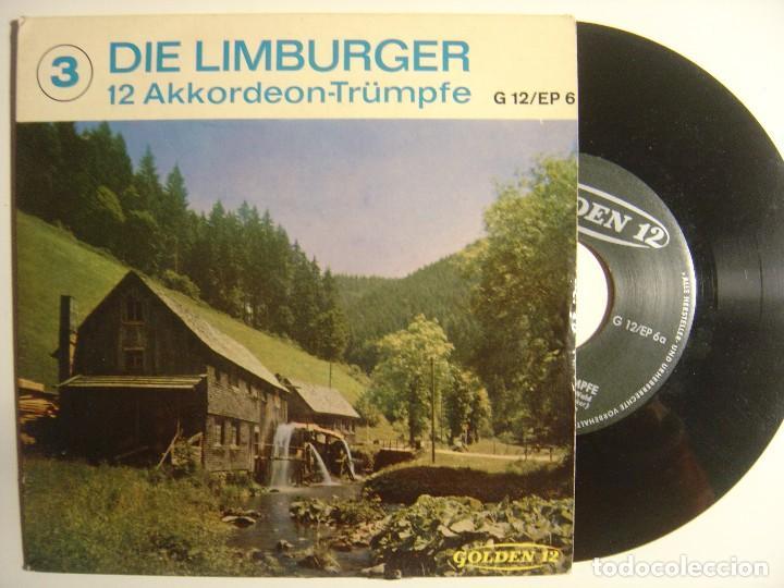 DIE LIMBURGER - 12 AKKORDEON-TRÜMPFE - SINGLE ALEMAN (Música - Discos de Vinilo - EPs - Country y Folk)