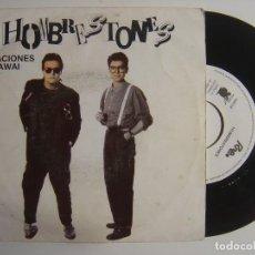 Discos de vinilo: HOMBRESTONES - VACACIONES EN HAWAI - SINGLE PROMOCIONAL 1991 - RNE. Lote 143407882