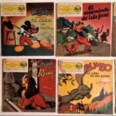 Discos de vinilo: COLECCIÓN DE 8 VINILOS SINGLE DISNEY RCA 45 RPM DEL AÑO 1958. Lote 143433902