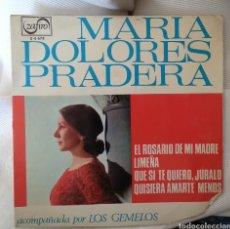 Discos de vinilo: MARÍA DOLORES PRADERA. Lote 143435521