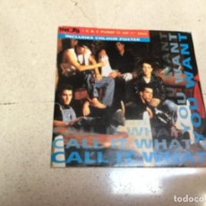 Discos de vinilo: NKOTB - NEW KIDS ON THE BLOCK - CALL IT WHAT YOU WANT ( POSTER ) . Lote 143454462
