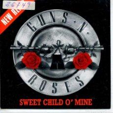 Discos de vinilo: GUNS N' ROSES / SWEET CHILD O'MINE (SINGLE PROMO 1988) LAS DOS CARAS EL MISMO TEMA. Lote 143463502