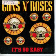 Discos de vinilo: GUNS N' ROSES / IT'S SO EASY (SINGLE PROMO 1990) LAS DOS CARAS EL MISMO TEMA. Lote 143465018