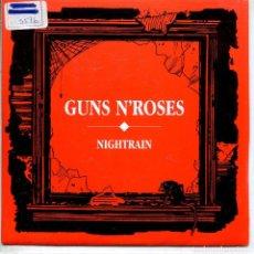 Discos de vinilo: GUNS N' ROSES / NIGHTRAIN (SINGLE PROMO 1989) LAS DOS CARAS EL MISMO TEMA. Lote 143465458