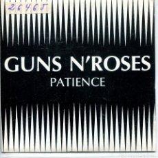 Discos de vinilo: GUNS N' ROSES / PATIENCE (SINGLE PROMO 1988) LAS DOS CARAS EL MISMO TEMA. Lote 143465622