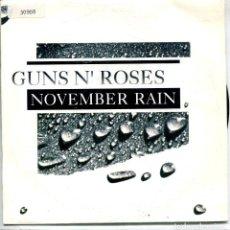 Discos de vinilo: GUNS N' ROSES / NOVEMBER RAIN / SWEET CHILD O' MINE (SINGLE 1992). Lote 143466138