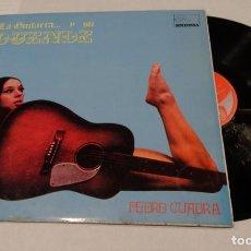 Discos de vinilo: LA GUITARRA Y SU DUENDE PEDRO CUADRA LP 1970. Lote 143513958