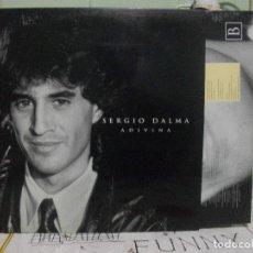 Discos de vinilo: SERGIO DALMA, ADIVINA . LP HORUS 1992, CON ENCARTE DE LETRAS PEPETO. Lote 143523550