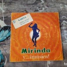 Discos de vinilo: LOTE DE 4 VINILOS - MIRINDA Y...¡MUSICA! - KARINA, MARI TRINI, LOS MITOS, LOS PAYOS - 7 - 1970. Lote 134238834