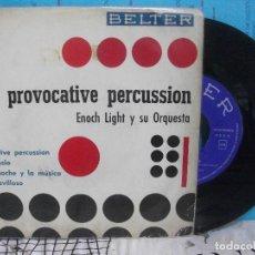 Discos de vinilo: ENOCH LIGHT Y SU ORQUESTA PROVOCATIVE PERCUSSION EP SPAIN 1961 PDELUXE. Lote 143548766