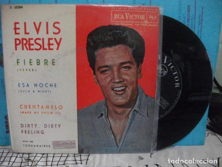 ELVIS PRESLEY FIEBRE + 3 EP SPAIN 1962 PDELUXE (Música - Discos de Vinilo - EPs - Rock & Roll)