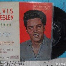 Disques de vinyle: ELVIS PRESLEY FIEBRE + 3 EP SPAIN 1962 PDELUXE. Lote 143549090