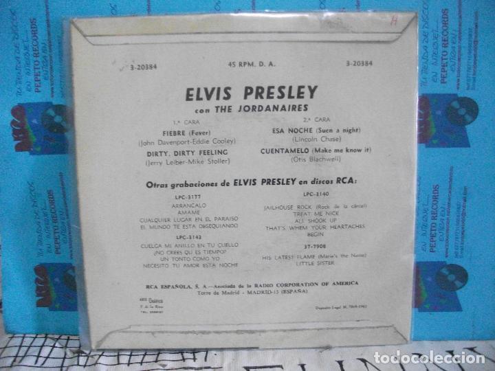 Discos de vinilo: ELVIS PRESLEY FIEBRE + 3 EP SPAIN 1962 PDELUXE - Foto 2 - 143549090