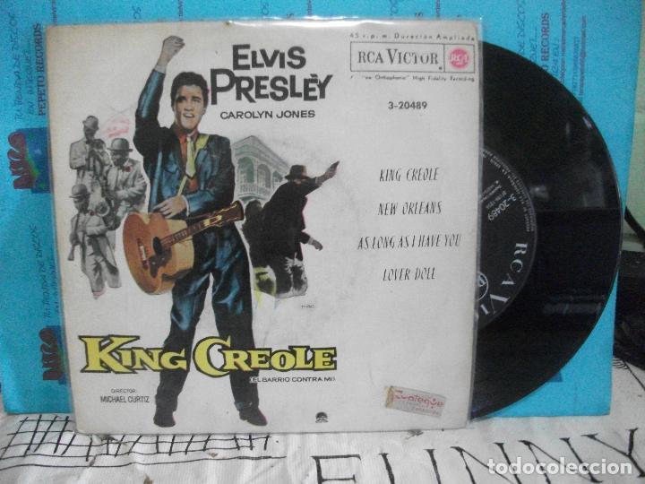 ELVIS PRESLEY KING CREOLE + 3 EP SPAIN 1962 PDELUXE (Música - Discos de Vinilo - EPs - Rock & Roll)