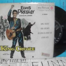 Discos de vinilo: ELVIS PRESLEY KING CREOLE + 3 EP SPAIN 1962 PDELUXE. Lote 143549142