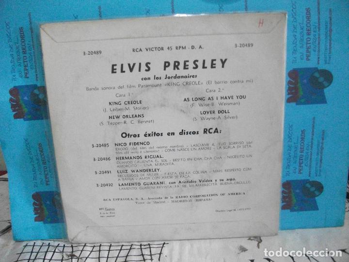 Discos de vinilo: ELVIS PRESLEY KING CREOLE + 3 EP SPAIN 1962 PDELUXE - Foto 2 - 143549142