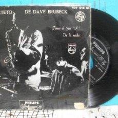 Discos de vinilo: DAVE BRUBECK CUARTETO TOMA EL TREN A + 1 SINGLE SPAIN 1958 PDELUXE. Lote 143557986