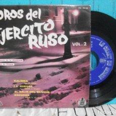 Discos de vinilo: COROS DEL EJERCITO RUSO LA SUEGRA / KALINKA + 2 EP 1960 PDELUXE. Lote 143558682