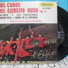 Discos de vinilo: COROS DEL EJERCITO RUSO KALINKA + 3 EP SPAIN 1966 PDELUXE. Lote 143559266