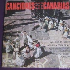 Discos de vinilo: CANCIONES CANARIAS EP SONOPLAY 1967 GRUPO HESPERIDES - ISA - FOLIA SEGUIDILLAS SALTONAS FOLK. Lote 143563738
