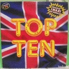 Discos de vinilo: TOP TEN. BLANCO Y NEGRO 1989, LP RECOPILATORIO + MAXI-SINGLE PEPETO. Lote 143588226