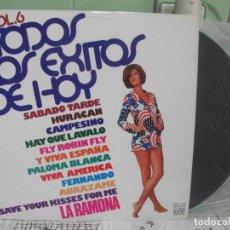 Discos de vinilo: LP TODOS LOS EXITOS DE HOY VOL, 6 (GM GRAMUSIC-1976 NUEVO ) PEPETO. Lote 143589138