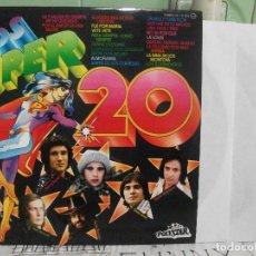 Discos de vinilo: LOS SUPER 20 - DOBLE LP (POLYDOR, 1976) LOS CHICHOS, LOS PUNTOS... NUEVO¡¡. Lote 143592570