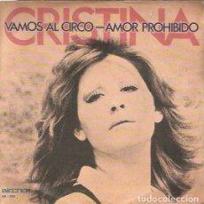 Discos de vinilo: CRISTINA. SINGLE. SELLO BELTER. EDITADO EN ESPAÑA. AÑO 1973. Lote 143592598