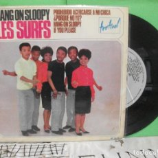 Discos de vinilo: LES SURFS HANG ON SLOOPY + 3 EP SPAIN 1965 PDELUXE. Lote 143600642