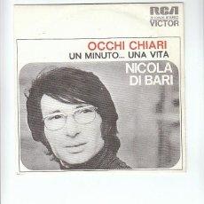 Discos de vinilo: NICOLA DI BARI: MUSICA ITALIANA- MUY NUEVO Y RARIO-ITALIA,1973- SIN USO!!. Lote 143616258
